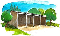 Open Sided Pole Barn Plans http://bgsplanco.com/ag_barns.cfm