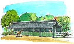 Agricultural/Livestock Barn Plans, Horse Barn Plans
